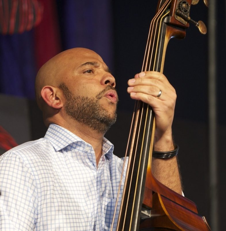 Eric Revis, onstage with the Branford Marsalis Quartet, at the 2014 New Orleans Jazz & Heritage Festival