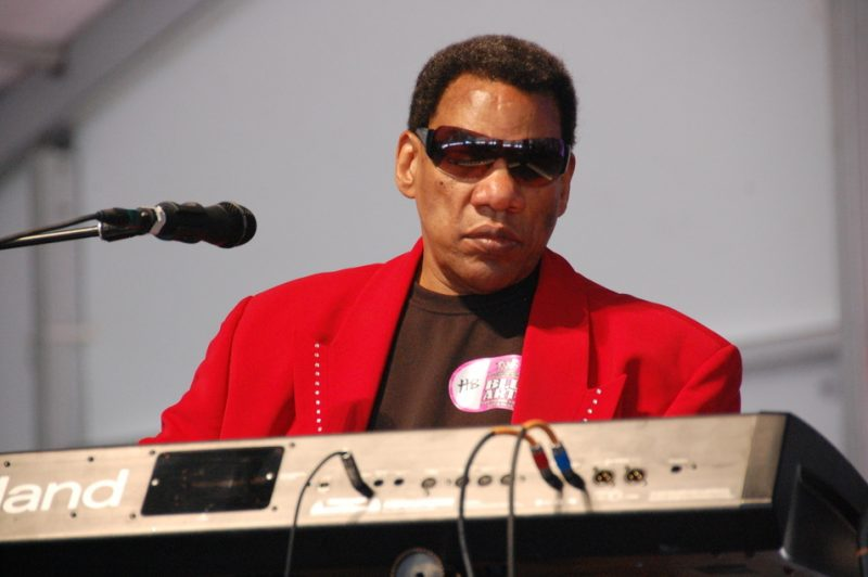 Henry Butler at the 2014 New Orleans Jazz & Heritage Festival