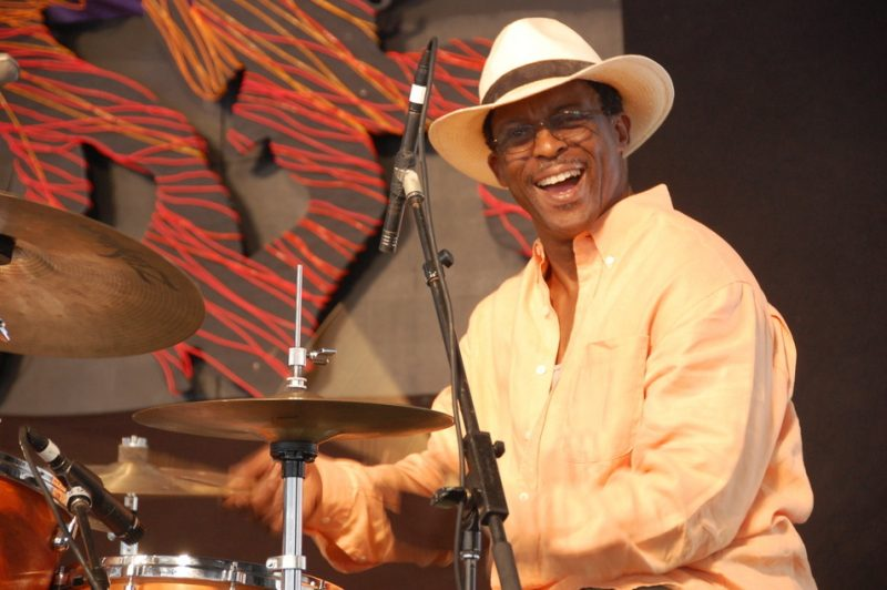 Herlin Riley at the 2014 New Orleans Jazz & Heritage Festival
