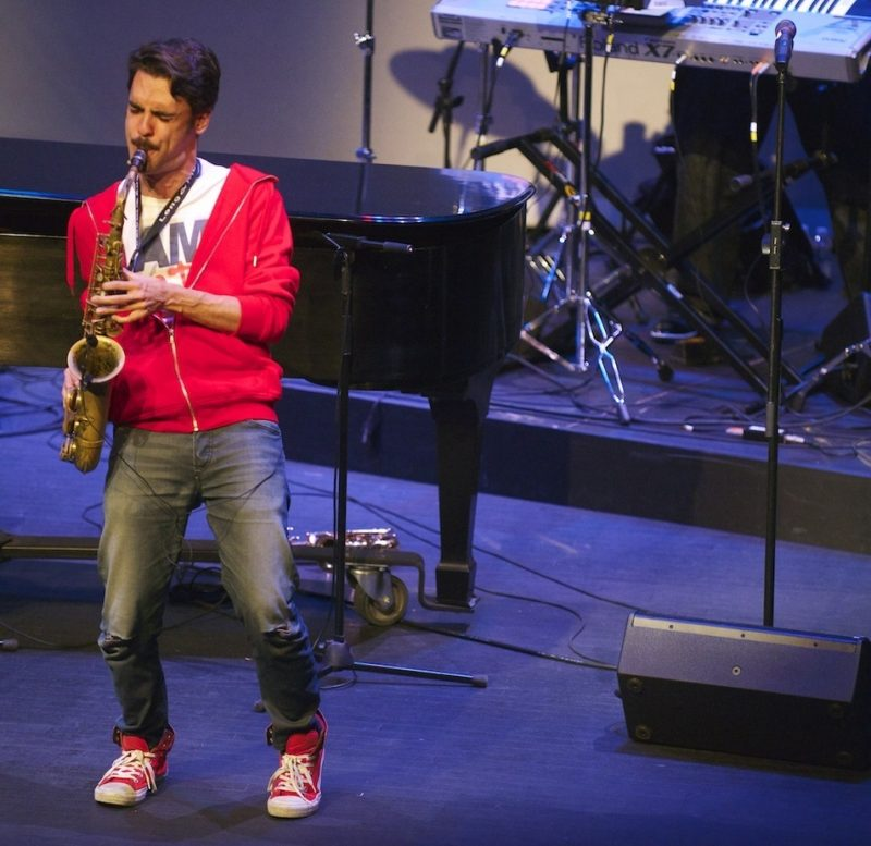 Saxophonist Eddie Barbash with Jonathan Batiste & Stay Human at The American Theater, Hampton, VA