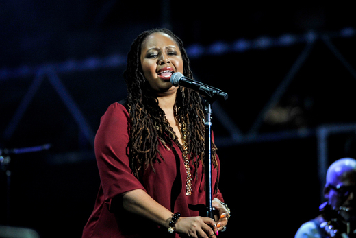 Lalah Hathaway, International Jazz Day, Osaka, Japan, April 30, 2014