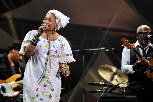 Oumou Sangare and Jonathan Butler, International Jazz Day, Osaka, Japan, April 30, 2014