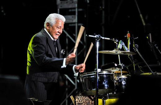 Pete Escovedo, International Jazz Day, Osaka, Japan, April 30, 2014