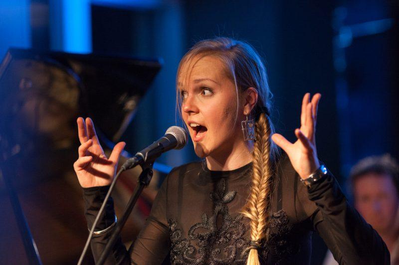 Kadri Voorand. NO99 Jazz Club, Jazzkaar, Estonia April 2014