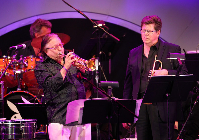 Arturo Sandoval and Wayne Bergeron, Playboy Jazz Festival June 2014