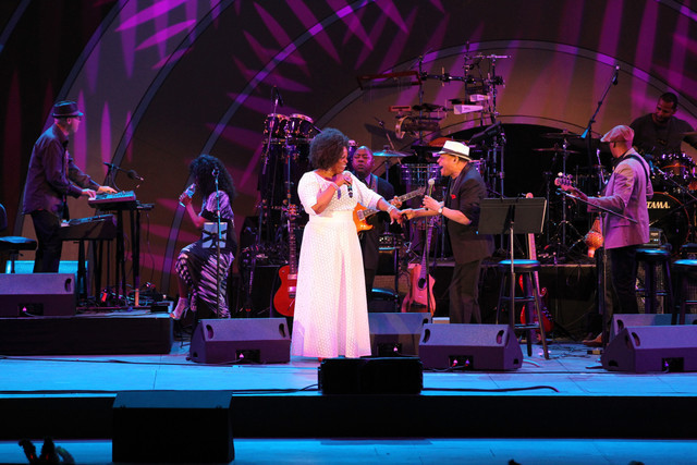 Dianne Reeves and Al Jarreau, Playboy Jazz Festival 2014, Hollywood Bowl