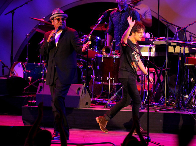 George Lopez and Jamie Cullum, Playboy Jazz Festival June 2014