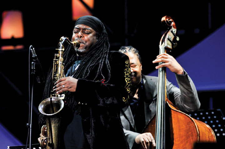 Courtney Pine and James Genus, International Jazz Day, Osaka, Japan, April 30, 2014
