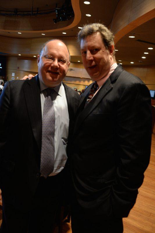 Loren Schoenberg and Phil Schaap, JALC Ertegun Hall of Fame induction ceremony, June 2014