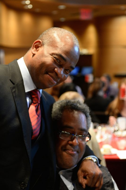 Russell Malone and Jon Faddis at JALC's Ertegun Hall of Fame induction ceremony, June 2014