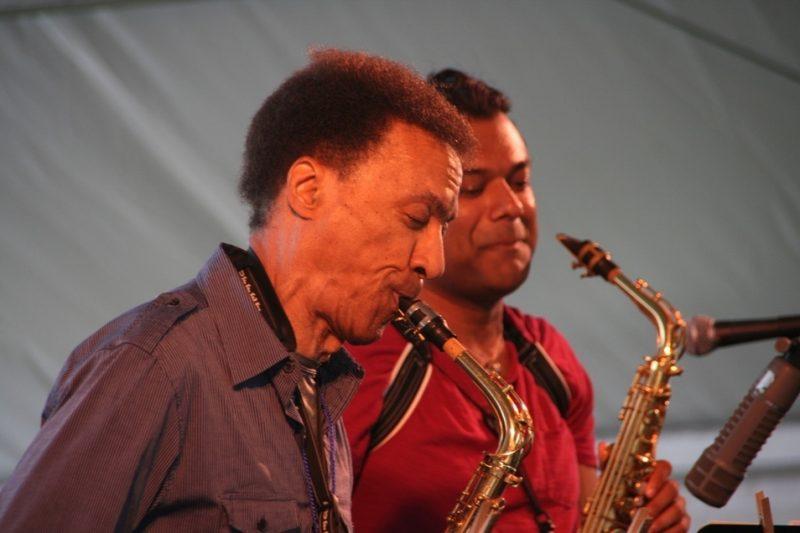 Bunky Green and Rudresh Mahanthappa at the 2011 Newport Jazz Festival