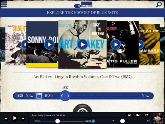 Blue Note 75 iPad app screen shot image 0