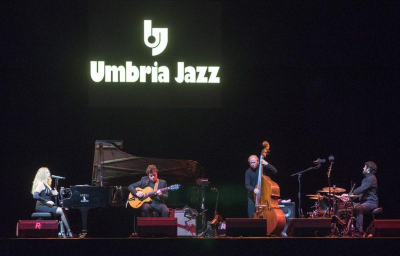 Pianist Eliane Elias' quartet with Graham Dechter, Marc Johnson and Rafael Barata (from left)