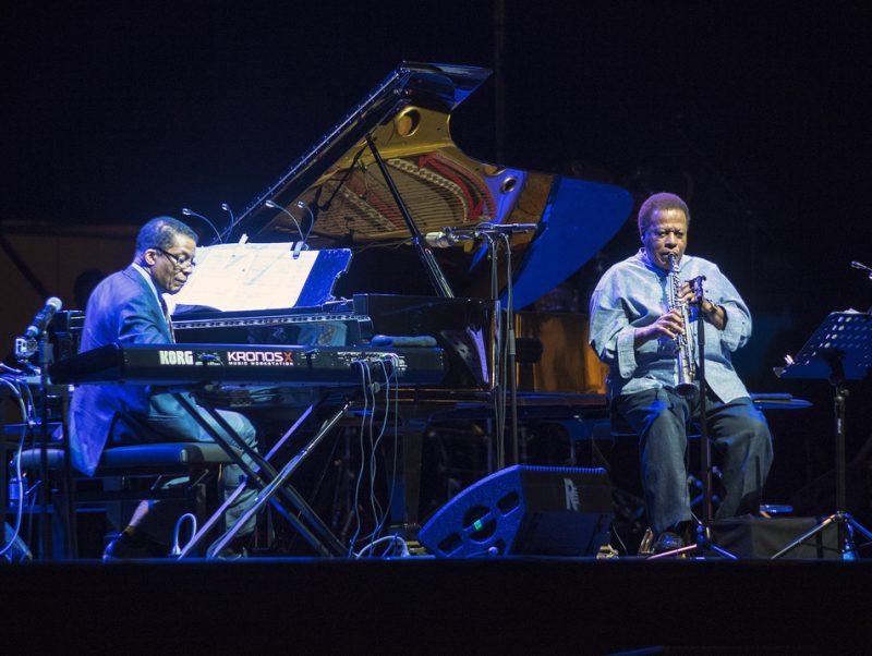 Herbie Hancock (left) and Wayne Shorter at Umbria Jazz 2014