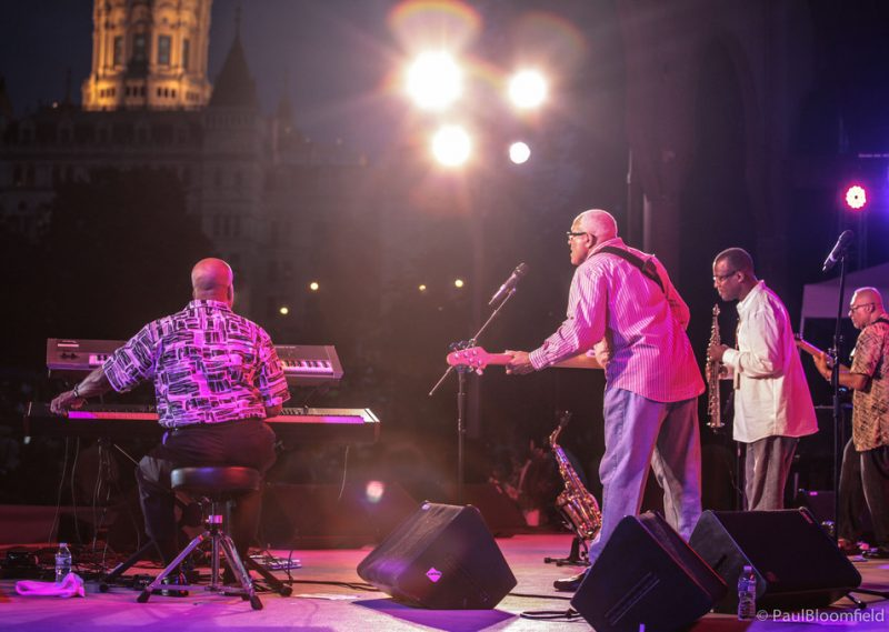 Urban Jazz Coalition plays an evening set against  backdrop of Capitol Hill, Greater Hartford Festival of Jazz, 2014