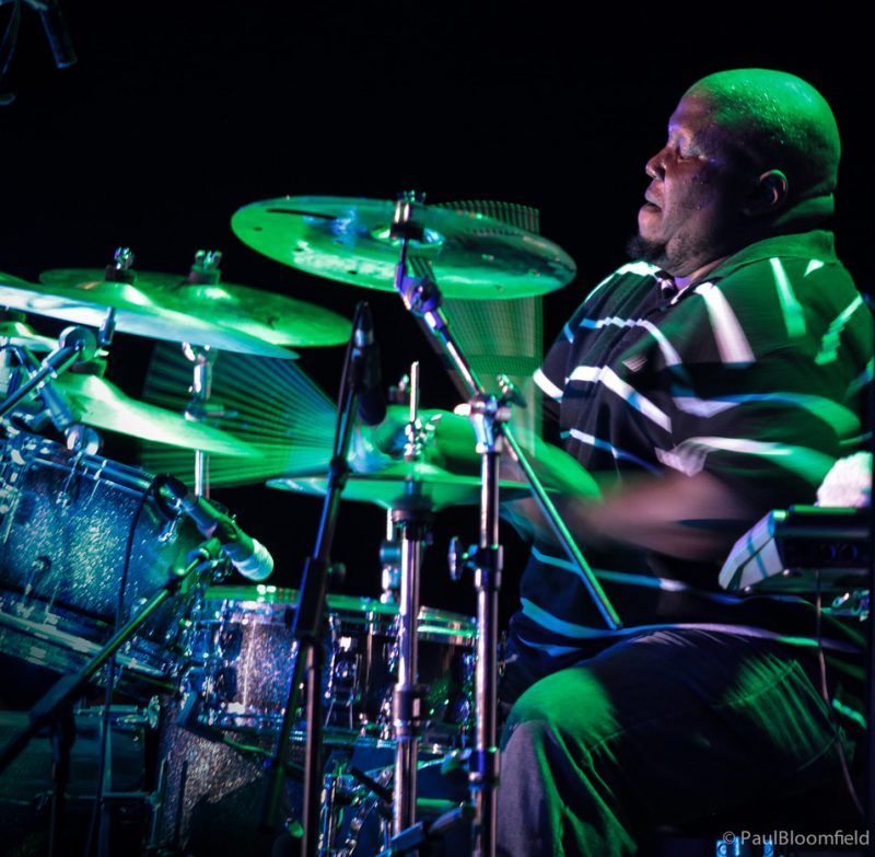 Drummer Jay Williams starts up a solo at the Greater Hartford Festival of Jazz 2014