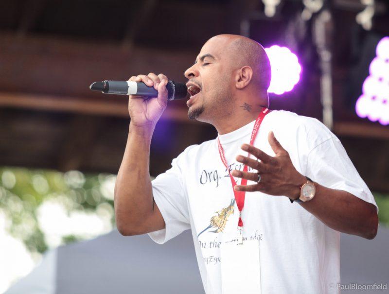 La Orquestra Espada's Marco Ocasio on vocals at the Greater Hartford Festival of Jazz 2014