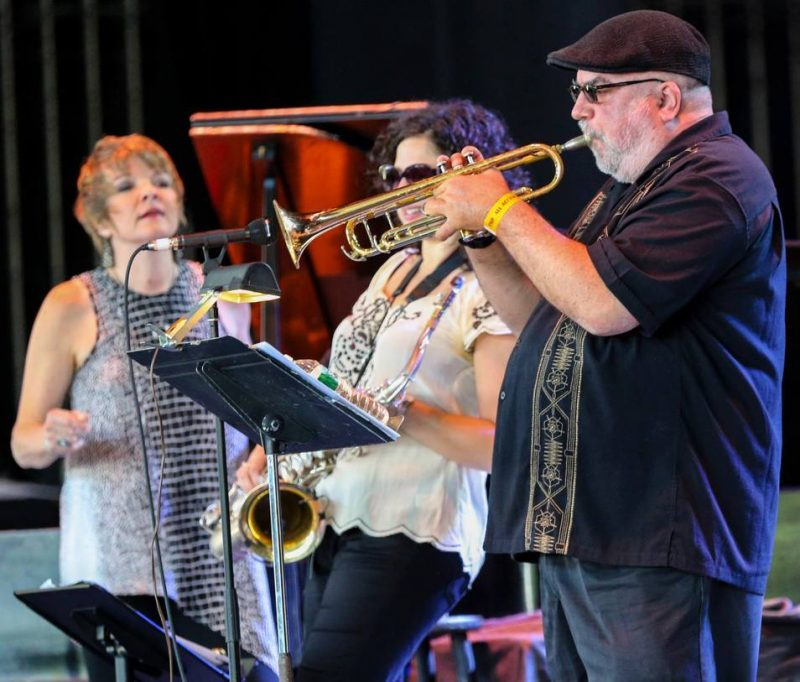 Karryn Allison, Anat Cohen and Randy Brecker, Freihofer's Saratoga Jazz Festival, 2014