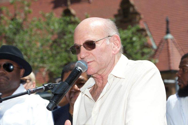 Dave Liebman at the dedication of Miles Davis Way, NYC, May 26, 2014
