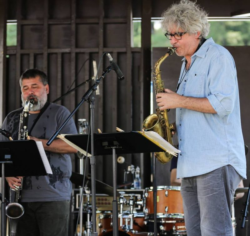 Oscar Noriega and TIm Berne, Freihofer's Saratoga Jazz Festival, 2014
