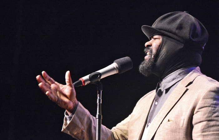 Gregory Porter performs  at the 2014 Tri-C JazzFest in Cleveland
