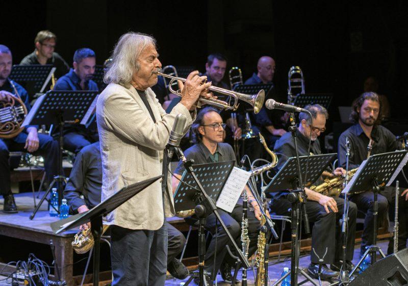 Enrico Rava with the Dino e Franco PIana Jazz Orchestra, Umbria Jazz 2014