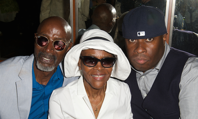 T.S. Monk, Cicely Tyson and Vince Wilburn Jr. at the dedication of Miles Davis Way, NYC, May 26, 2014