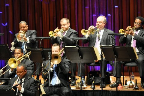 The Jazz at Lincoln Center Orchestra perform at the Barbican Centre in London on July 2, 2014
