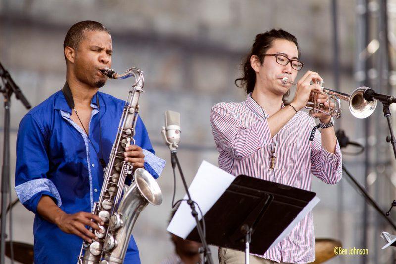 David Sanchez and Mao Sone Berklee Global Jazz Ambassadors featuring David Sanchez, Newport Jazz Festival 2014