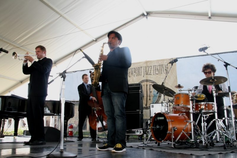 Mostly Other People Do the Killing performing during the 2011 Newport Jazz Festival