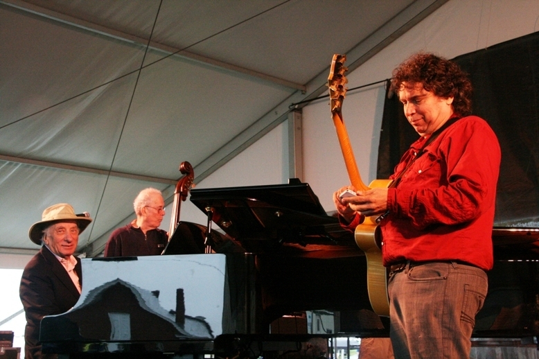Dick Hyman, Jay Leonhart and Howard Alden, Newport Jazz Festival 2014
