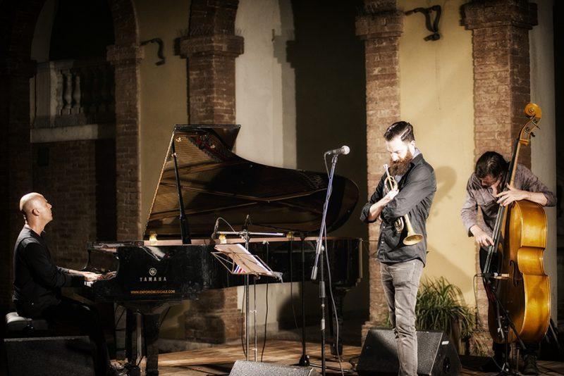 Stefano Battaglia, Avishai Cohen, Matt Penman. Piazza del Duomo, Siena Jazz Workshops 2014