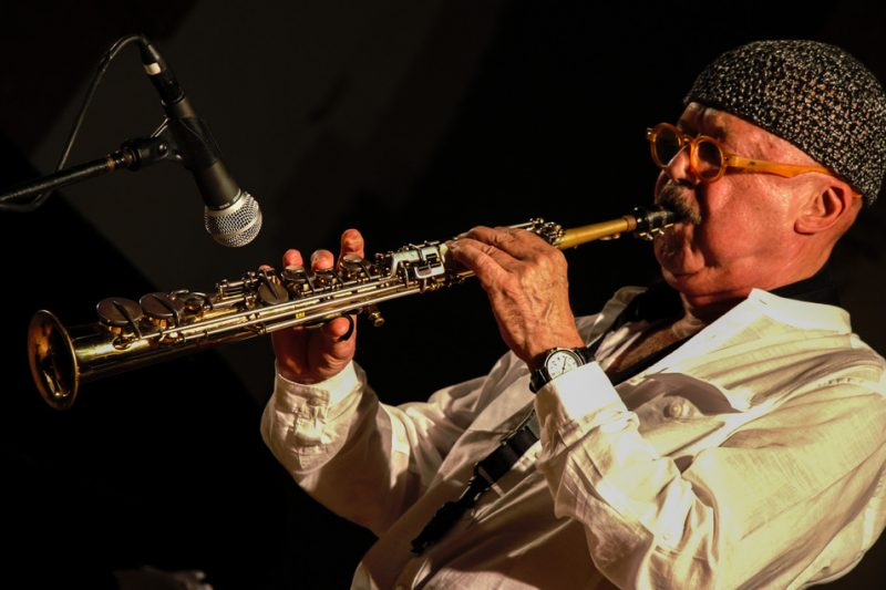 Claudio Fasoli. Piazza del Duomo, Siena Jazz Workshops, 2014