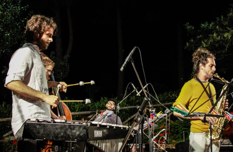 Gabriele Boggio Ferraris, Moritz Gotzen, Alessandro Rossi, Gianluca Zanello. Jam session. Nobil Contrada del Bruco. Siena Jazz Workshops 2014