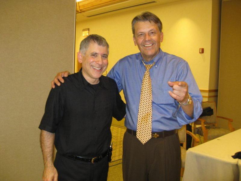 Bart Weisman (left) with Jay Geils (J. Geils Band) after a jazz concert with the New Guitar Summit on Cape Cod