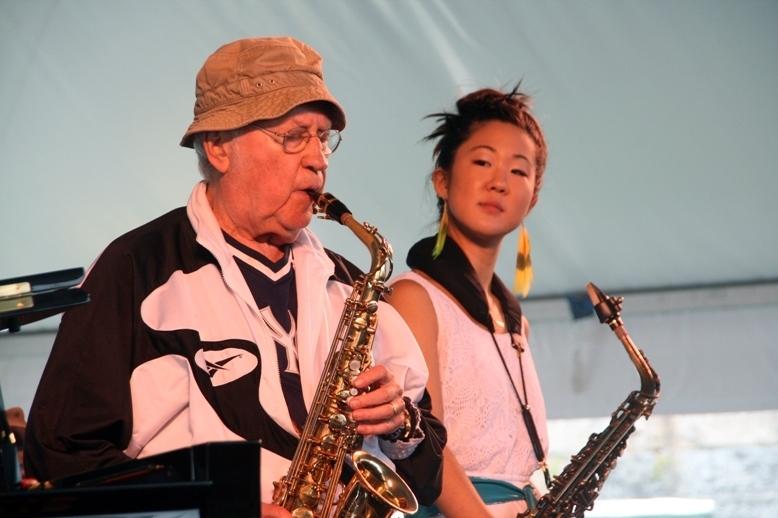 Lee Konitz and Grace Kelly, Newport Jazz Festival 2014