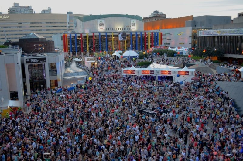 Overview of the Place des Festival, Montreal Jazz Festival, 2013