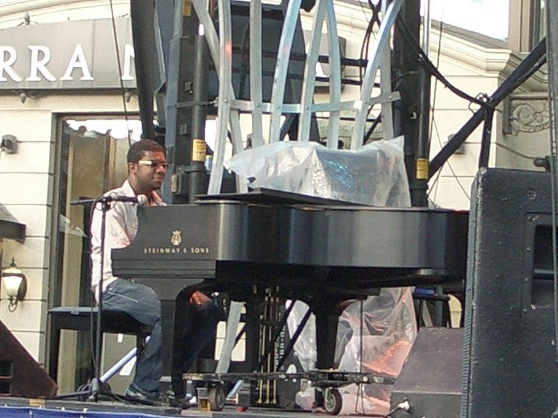 Cuban pianist Rafael Zaldivar performing  at the 2010 Montreal International Jazz Festival