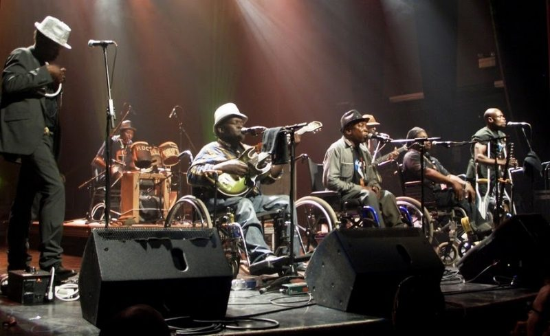 Congo's Staff Benda Bilili performing  at the 2010 Montreal International Jazz Festival