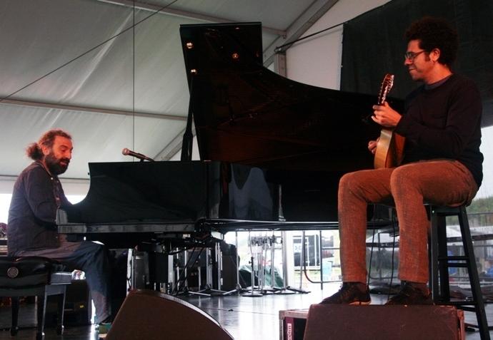 Stefano Bollani and Hamilton de Holanda, Newport Jazz Festival 2014