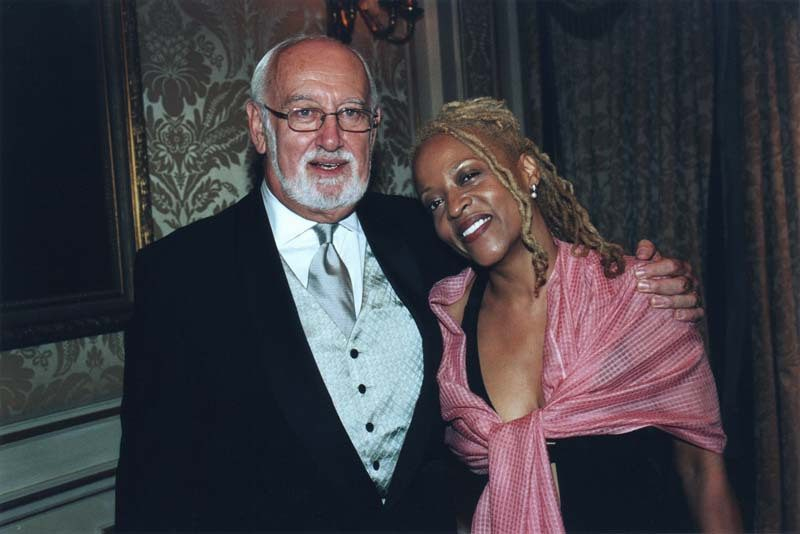 Bruce Lundvall and Cassandra Wilson in 2003. Photo courtesy of Bruce Lundvall Archives