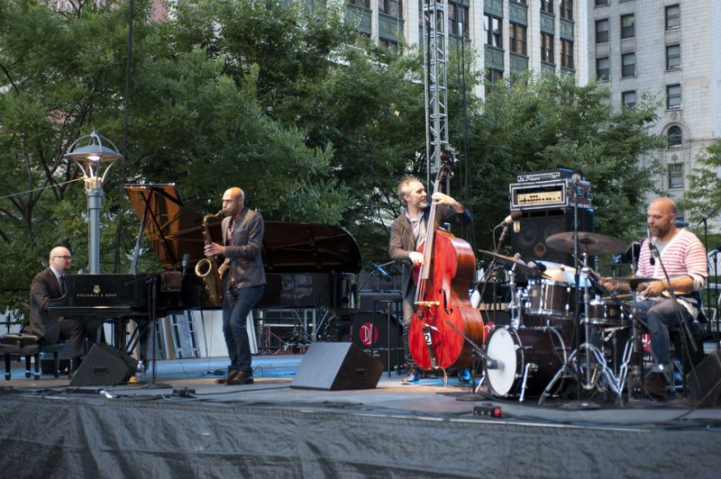 The Bad Plus with saxophonist Joshua Redman, Detroit Jazz Festival 2014