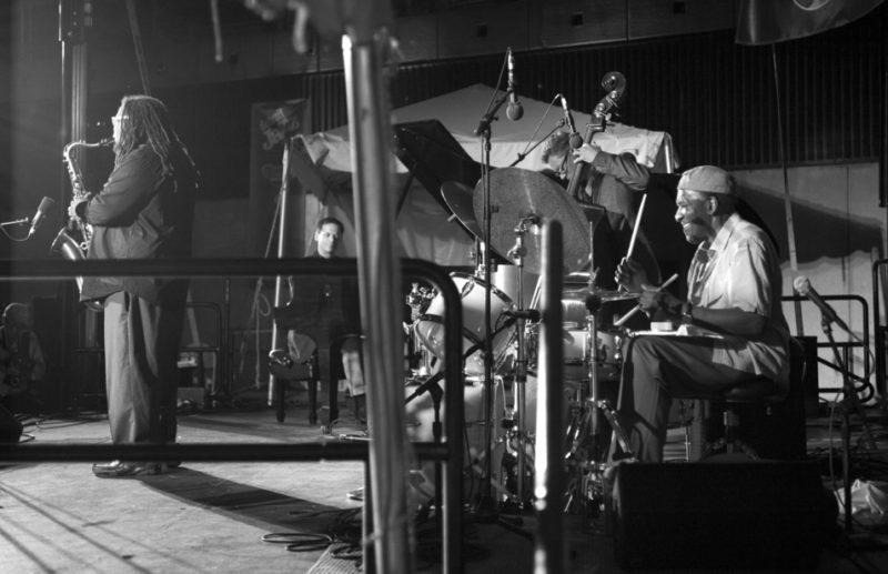 Al Foster Quartet: Dayna Stephens (sax), Adam Birnbaum (piano), Doug Weiss (bass), Foster (drums), Detroit Jazz Festival 2014