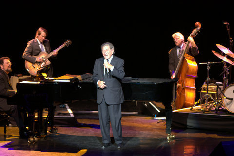 Tony Bennett performing with his quartet at London's Royal Festival Hall in September 2014
