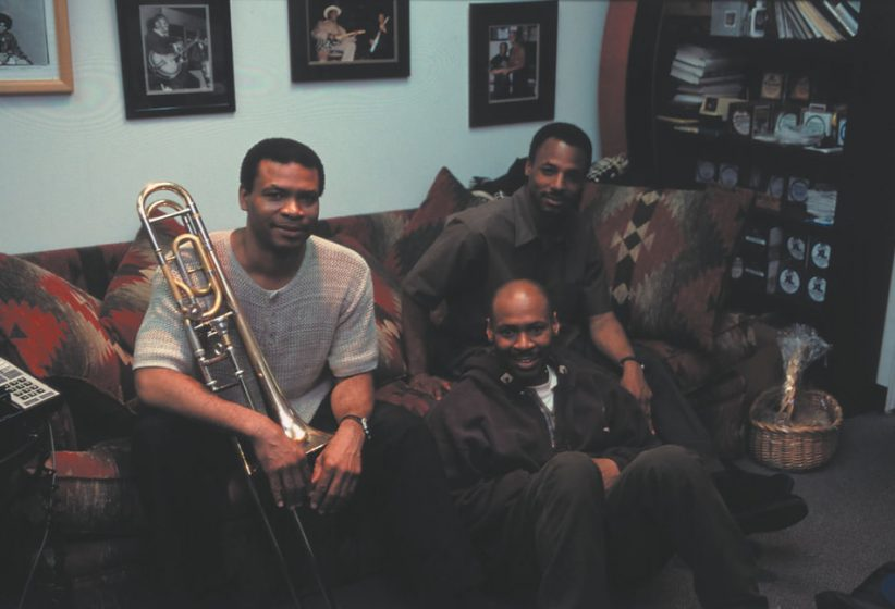 Photo of Robin Eubanks , Kevin Eubanks and Duane Eubanks