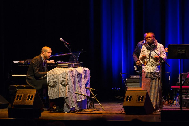 Jason Moran and Meshell Ndegeocello in 'Fats Waller Dance Party' presented by the Celebrity Series at Berklee Performance Center, Boston,  4/14