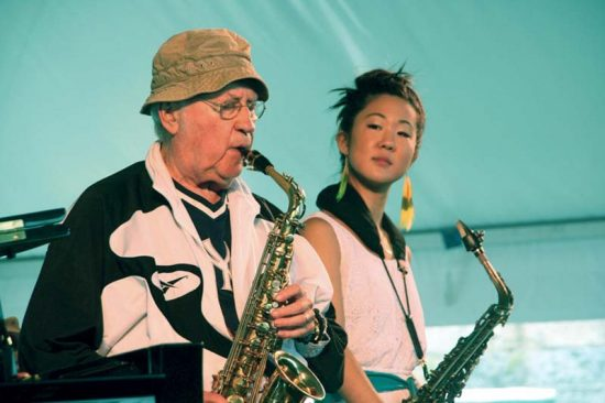 Lee Konitz and Grace Kelly, Newport Jazz Festival 2014 image 0