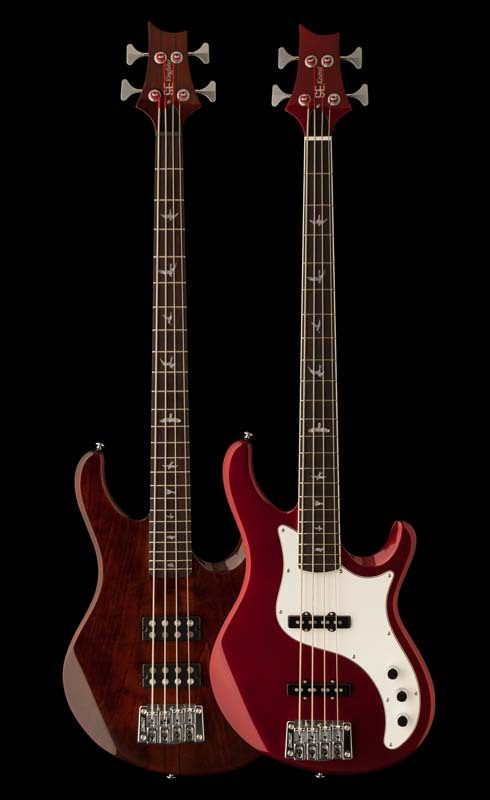 PRS SE Kingfisher & SE Kestrel Bass Guitars