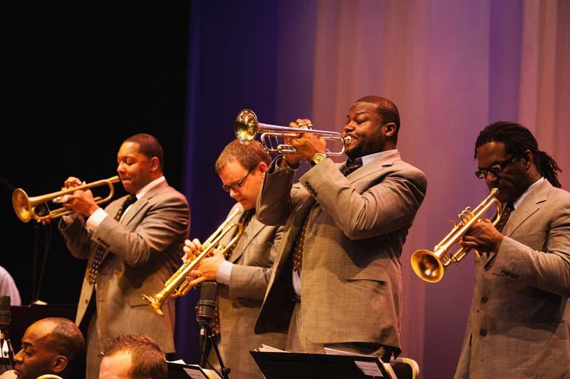 Wynton Marsalis, Ryan Kisor, Sean Jones, Marcus Printup in the Jazz at Lincoln Center Orchestra 2008