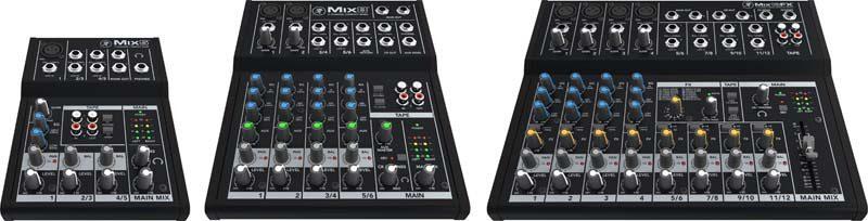 Mackie mixers